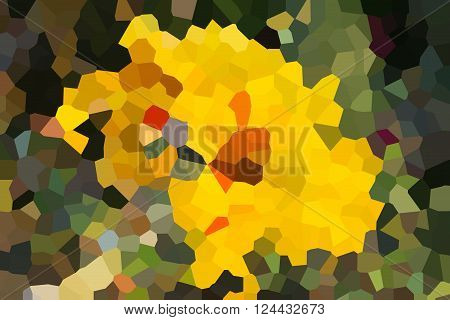 Colourful Crystallize Abstract Background In Fresh Yellow And Green Colour