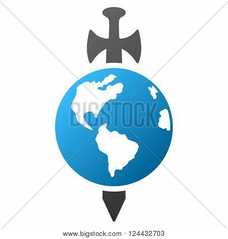 Earth Guard vector toolbar icon for software design. Style is a gradient icon symbol on a white background.