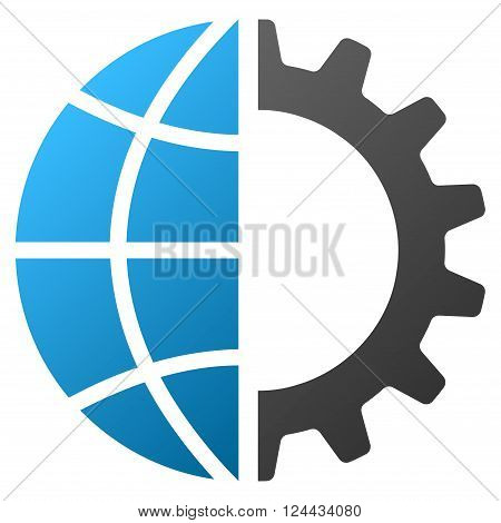 Global Industry vector toolbar icon for software design. Style is a gradient icon symbol on a white background.