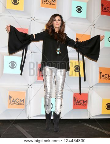 LAS VEGAS - APR 3:  Karen Fairchild at the 51st Academy of Country Music Awards at the MGM Grand Garden Arena on April 3, 2016 in Las Vegas, NV