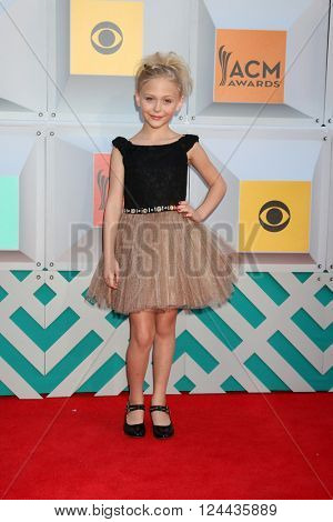 LAS VEGAS - APR 3:  Alyvia Alyn Lind at the 51st Academy of Country Music Awards Arrivals at the Four Seasons Hotel on April 3, 2016 in Las Vegas, NV