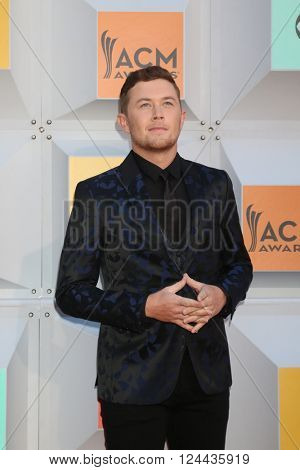 LAS VEGAS - APR 3:  Scotty McCreery at the 51st Academy of Country Music Awards Arrivals at the Four Seasons Hotel on April 3, 2016 in Las Vegas, NV