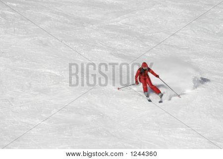 Skiing In Red