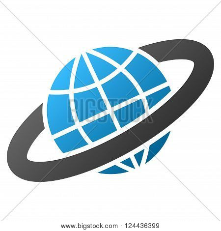 Planetary Ring vector toolbar icon for software design. Style is a gradient icon symbol on a white background.