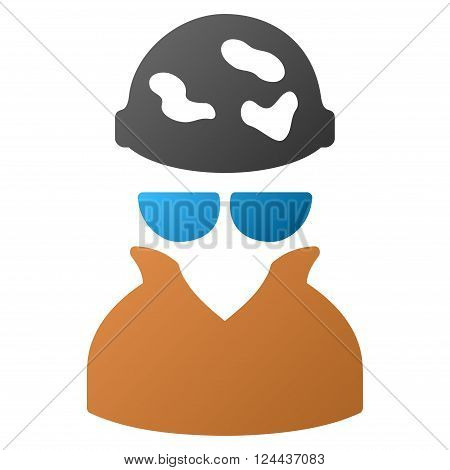 Spotted Spy vector toolbar icon for software design. Style is a gradient icon symbol on a white background.