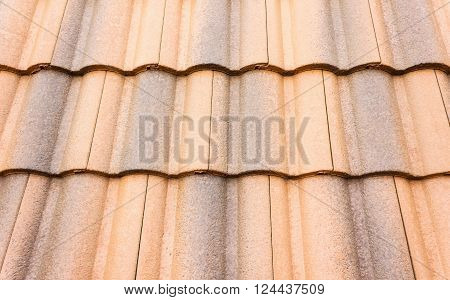 Close up home carved roof-tile texture background