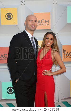 LAS VEGAS - APR 3:  Mike Caussin, Jana Kramer at the 51st Academy of Country Music Awards Arrivals at the Four Seasons Hotel on April 3, 2016 in Las Vegas, NV