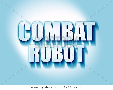 combat robot sign background with some smooth lines