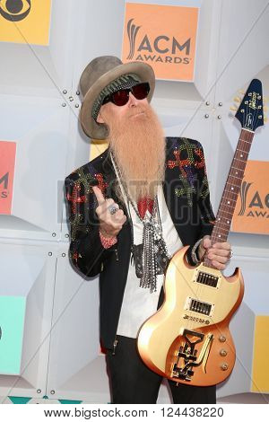 LAS VEGAS - APR 3:  Billy GIbbons at the 51st Academy of Country Music Awards Arrivals at the Four Seasons Hotel on April 3, 2016 in Las Vegas, NV