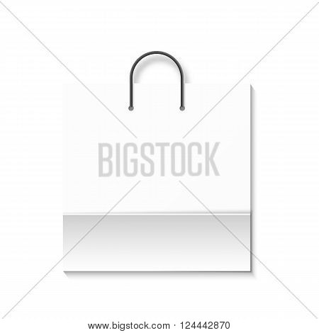 Bag isolated on a white background. White paper bag. Shopping bag. Bags for boutiques.