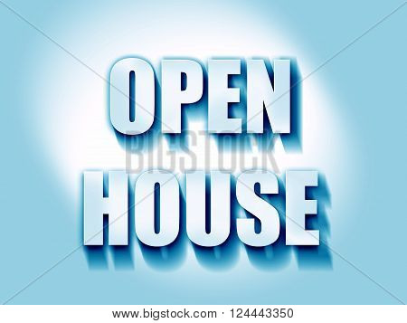 Open house sign with some soft smooth lines