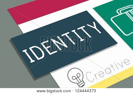 Identity Character Copyright Patent Trademark ID Concept