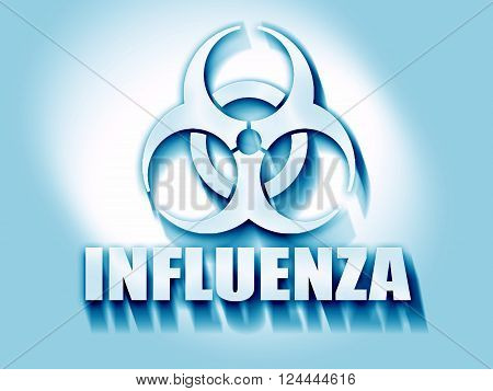 Influenza virus concept background with some soft smooth lines
