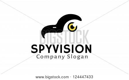 Spy Vision Creative And Symbolic Logo Design Illustration