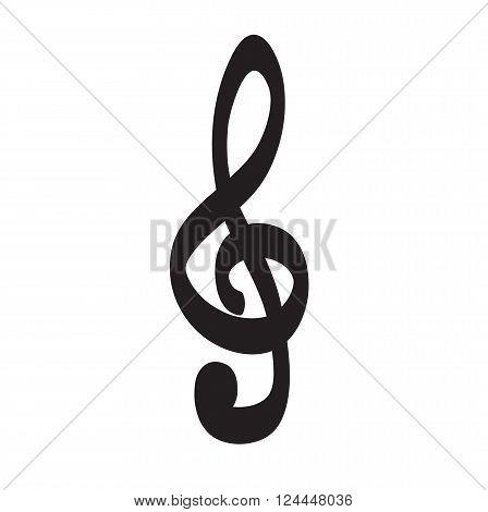 Violin Key Icon Hand Drawn Vector Icon