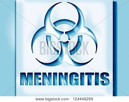 meningitis virus concept background with some soft smooth lines