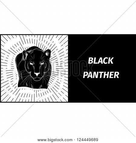 logo with the image of a black panther