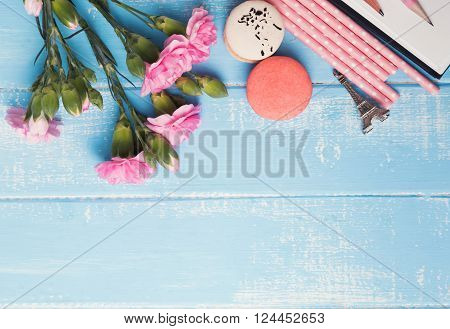 Pretty Things On Blue Background