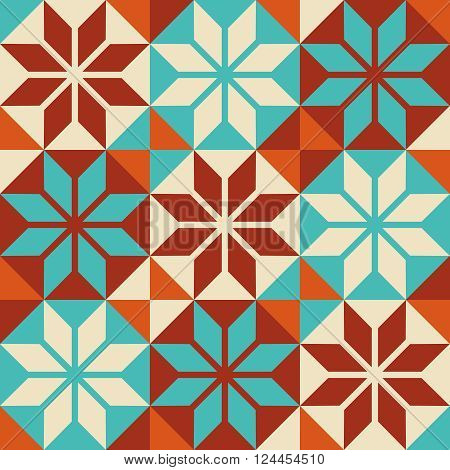 Mosaic Tile Colorful Pattern In Patchwork Style