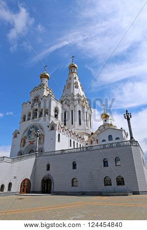 MINSK, BELARUS - JULY 20, 2014: Memorial Church of All Saints
