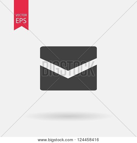 Message closed envelope icon. Mail icon vector, Envelope icon vector, massage icon vector, flat web icon.  Vector illustration