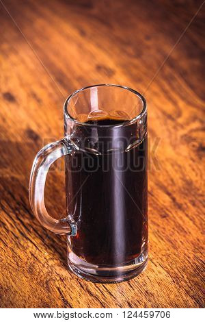 Russian Brew In Mug  On Wooden Background