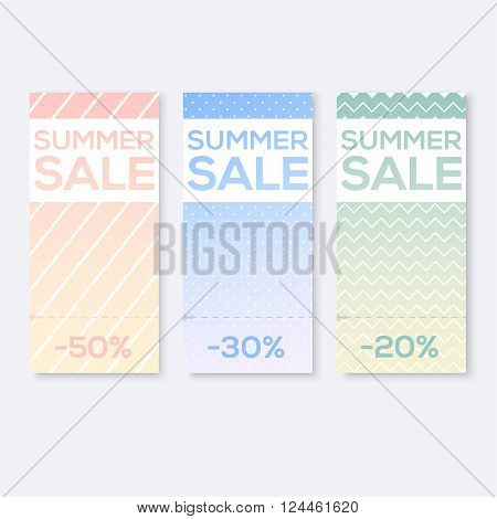 Collect Sale Signs with Tear-off Coupon vector illustration