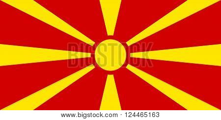 Flag of Macedonia - authentic version in color and scale