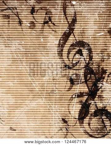 Old music sheet with musical notes on it