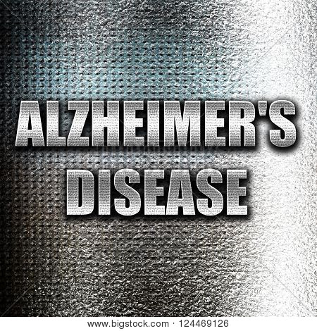 Grunge metal Alzheimer's disease background with some soft flowing lines