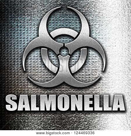 Grunge metal Salmonella concept background with some soft smooth lines