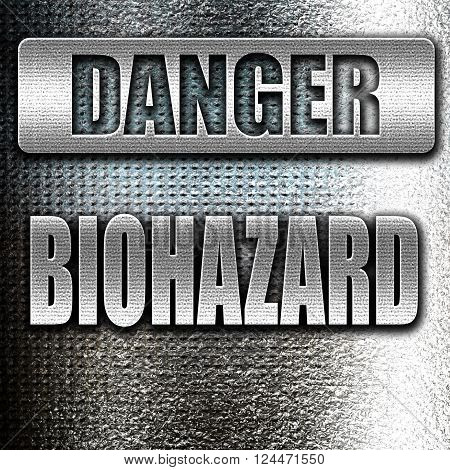 Grunge metal Biohazard sign with some smooth lines