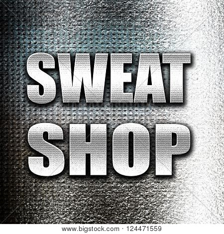 Grunge metal Sweat shop background with some smooth lines