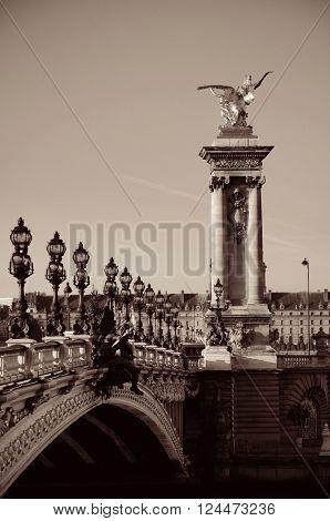 Alexandre III bridge in Paris, France.