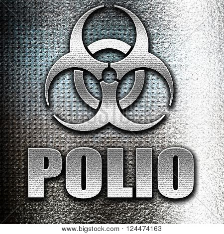 Grunge metal Polio concept background with some soft smooth lines