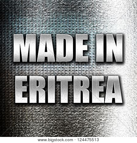 Grunge metal Made in eritrea with some soft smooth lines