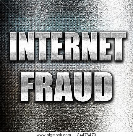 Grunge metal Internet fraud background with some smooth lines