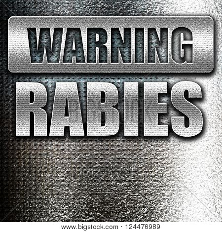 Grunge metal Rabies virus concept background with some soft smooth lines
