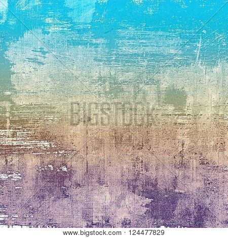 Retro grunge vintage background or weathered antique texture with different color patterns: yellow (beige); brown; blue; purple (violet); gray