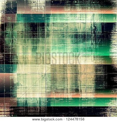Scratched vintage texture, grunge style frame or background. With different color patterns: brown; green; blue; white; pink; black