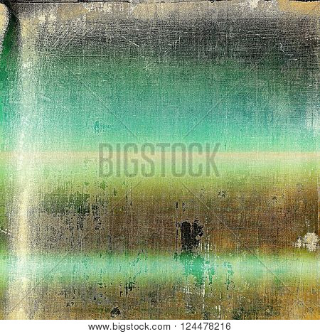 Abstract colorful background or backdrop with grunge texture and different color patterns: yellow (beige); brown; green; blue; gray