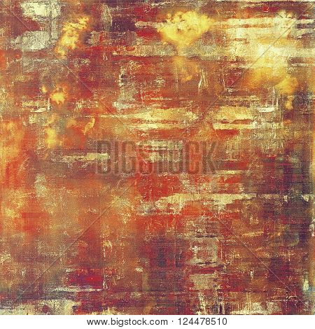 Abstract vintage background with faded grungy texture. Aged backdrop with different color patterns: yellow (beige); brown; red (orange); purple (violet); pink
