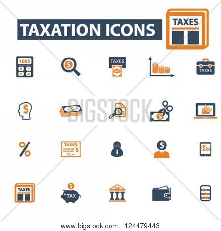 taxes, debt, taxes, tax time, savings icons