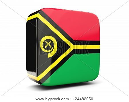 Square Icon With Flag Of Vanuatu Square. 3D Illustration