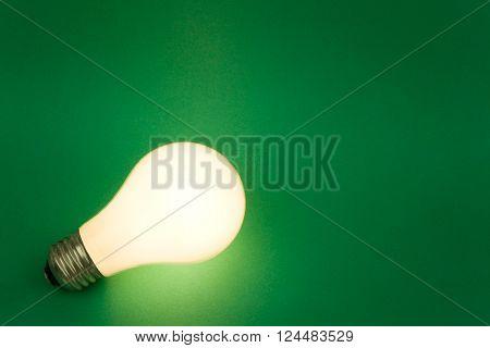 a Bright Light Bulb close up shot