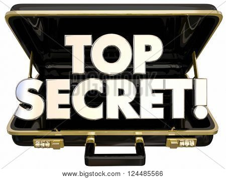 Top Secret Confidential Briefcase Private Business Company Documents Words