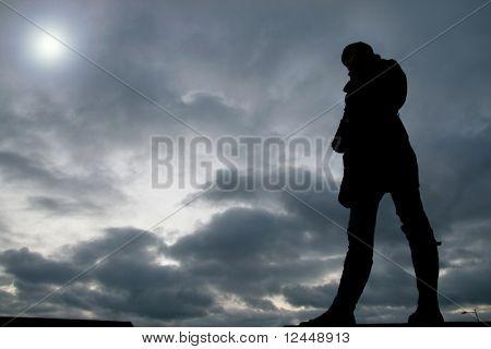 man in sky