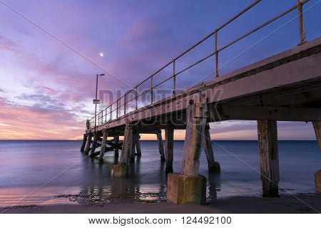 Sunset From The Side Of The Normanville Jetty