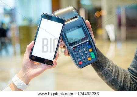 Customer pay the bill by mobile phone