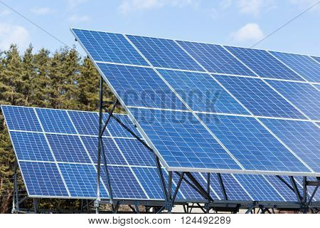 Solar enegy station plant